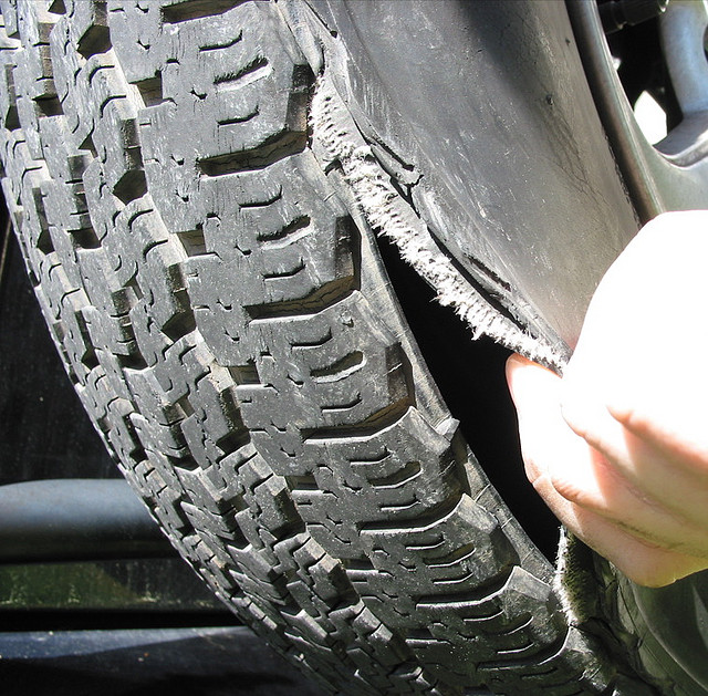 tire blowout What to do if your tire blows out needless to say, tire blowouts ruin your car's tires steps to follow the interesting thing about tire blowouts is that they require you to act counterintuitively.