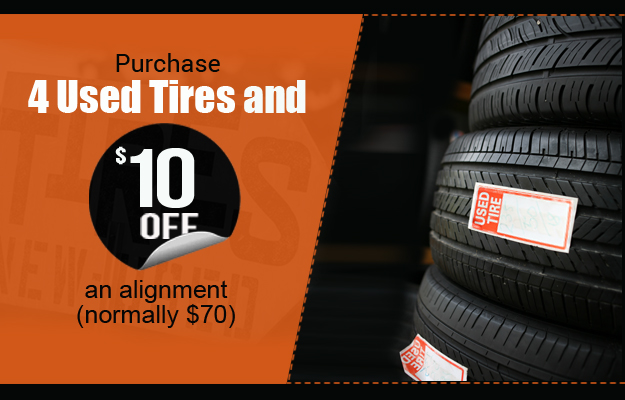 $10 off Alignment Purchase 4 Used Tires