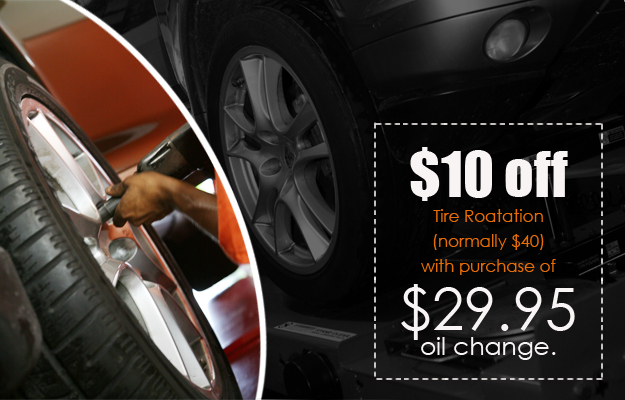 $10 Tire Rotation with Oil Change