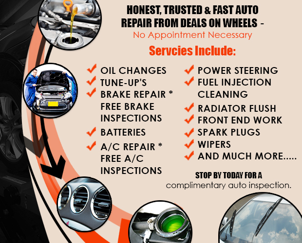 Deals On Wheels Tires Used Tires Alignment Brakes Auto Repair